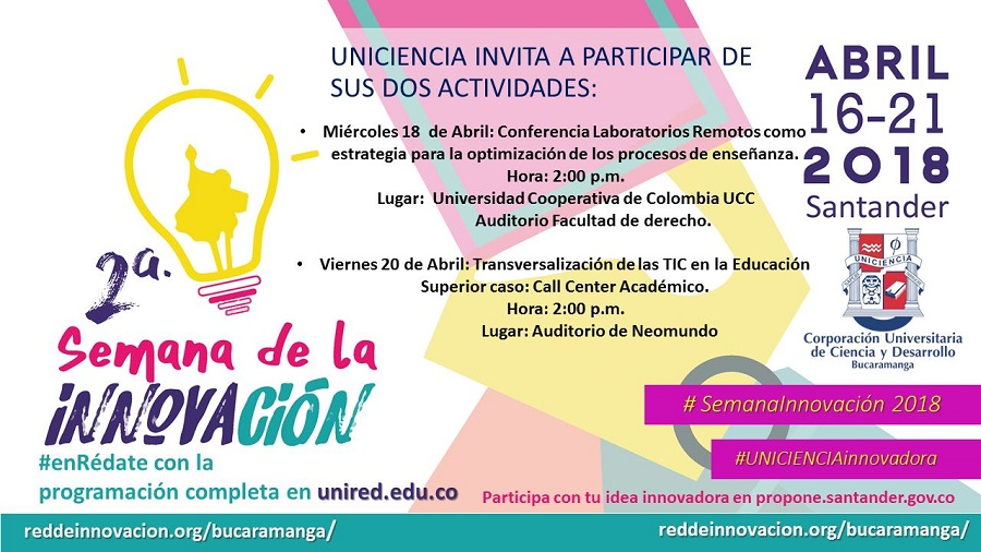 18 20 abril SIS2018 UNICIENCIA